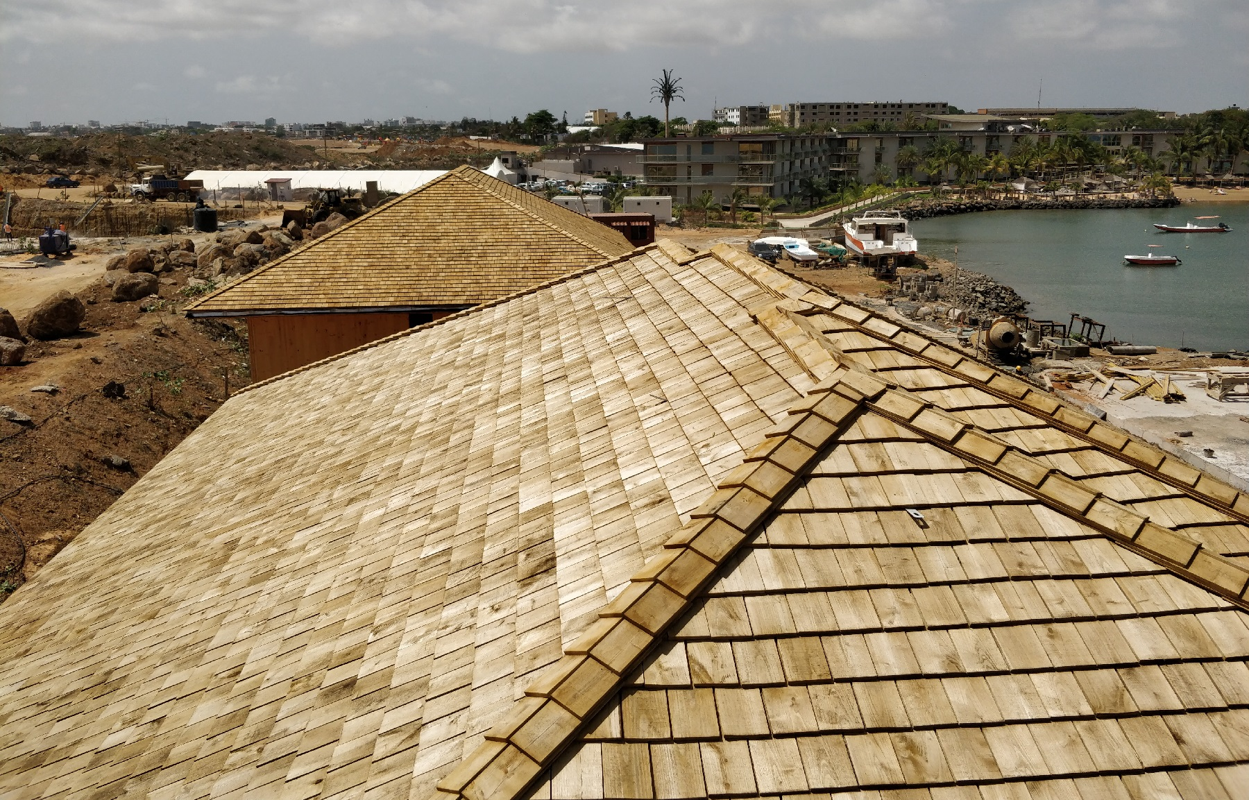 Chestnut Woden Tiles in Senegal