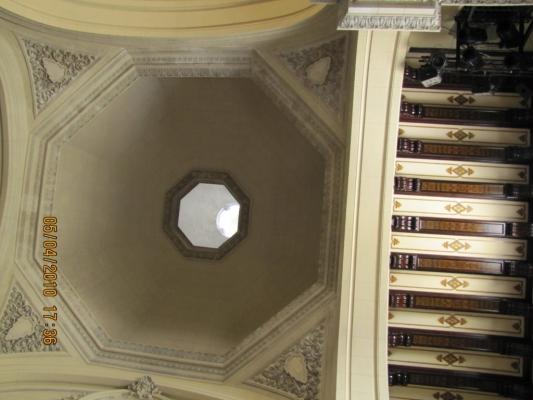 Musé de Mozart FELIPE NERI, expertise structure porteuse dôme, vue de dessous Vieille HAVANE CUBA 2010.jpg
